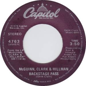 McGuinn, Clark and Hillman - Backstage Pass