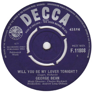 George Bean - Will You Be My Lover Tonight