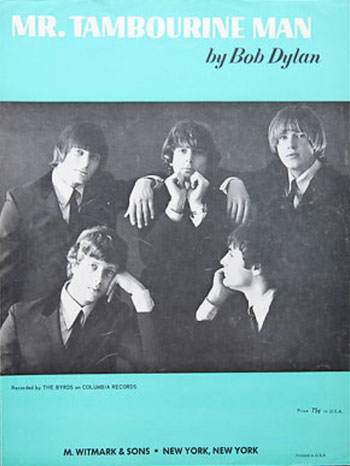 Byrds Mr. Tambourine Man sheet music