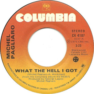Pagliaro – What The Hell I got
