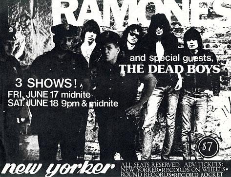 Ramones Toronto 1977 flyer
