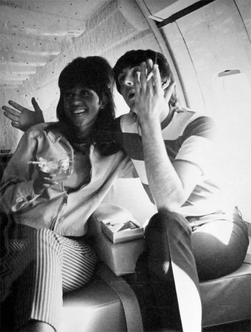 Ronnie Spector and Paul McCartne