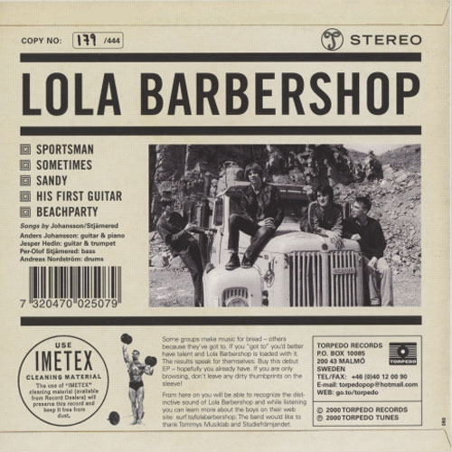 Lola Barbershop - Sportsman EP