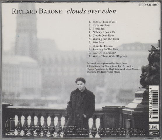 Richard Barone ‎– Clouds Over Eden