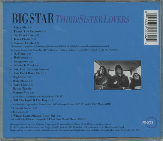 Big Star - Third/Sister Lovers