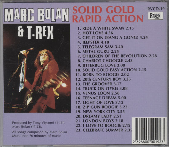 Bolan, Marc & T. Rex – Solid Gold Rapid Action