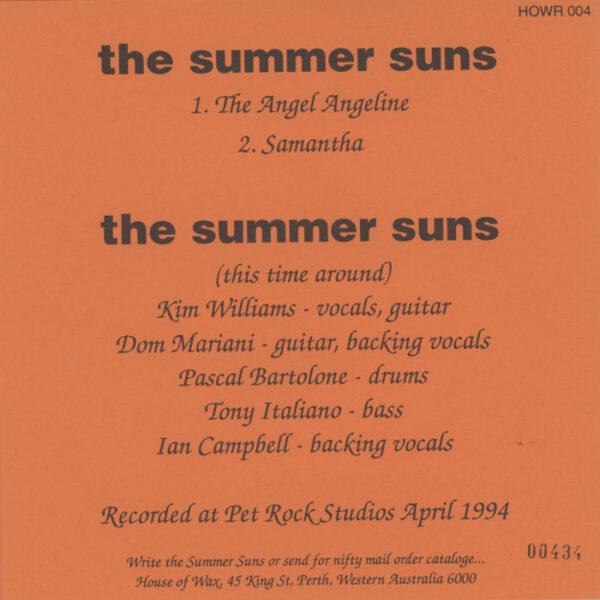 Summer Suns - The Angel Angeline