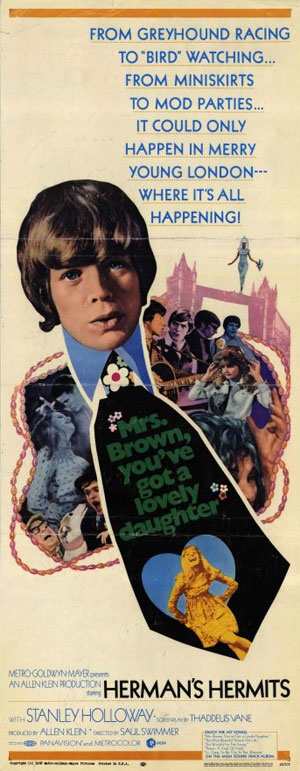Herman's Hermits – Mrs. Brown You've Got A Lovely Daughter (Poster)