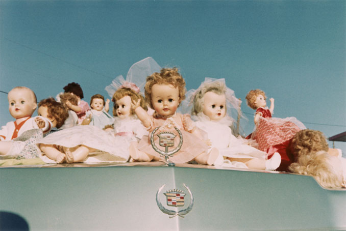 William Eggleston - Dolls on Cadillac