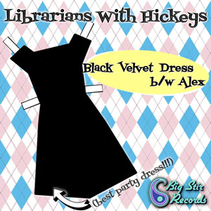 Librarians With Hickeys - Black Velvet Dress / Alex