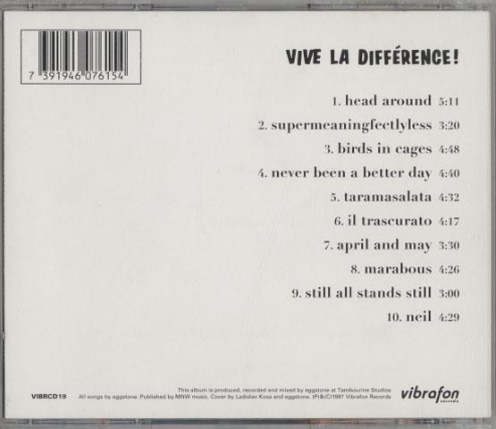 Eggstone – Vive La Différence!