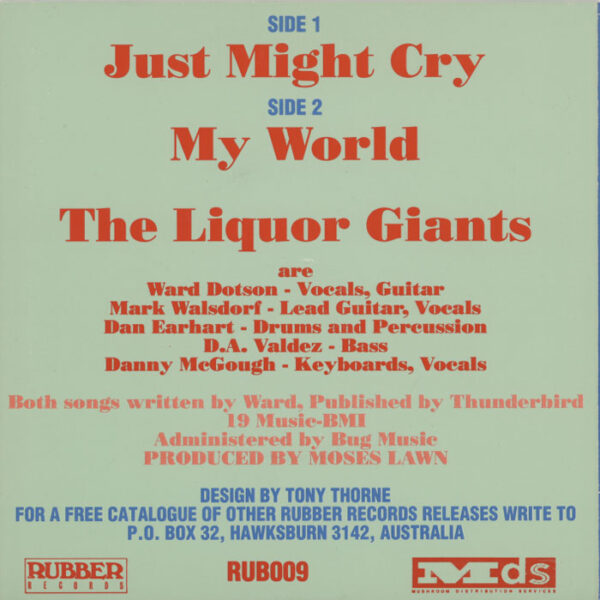 Liquor Giants ‎– Just Might Cry