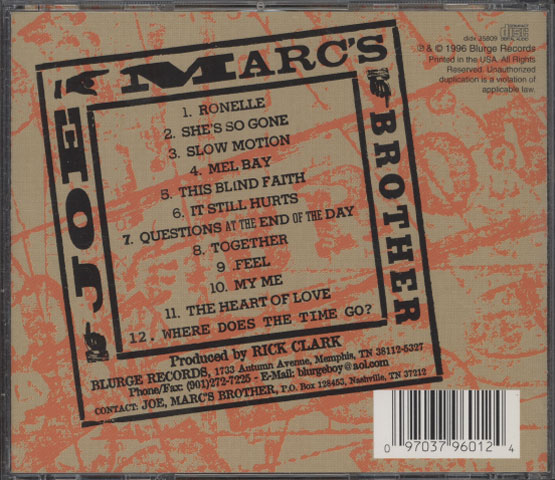 Joe, Marc's Brother – The Debut Of Joe, Marc's Brother
