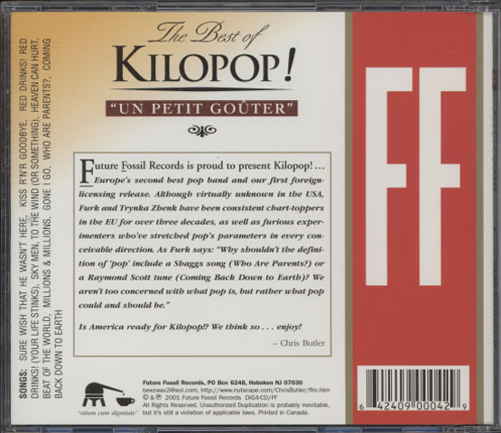 "Kilopop! ‎– The Best of Kilopop! ""Un Petit Gouter"""