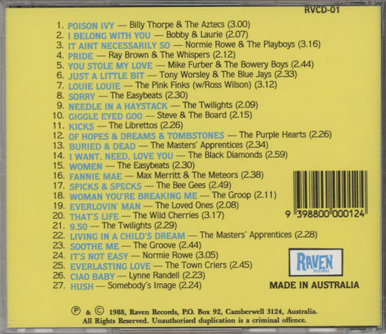 Various – Sixties Downunder Vol. 1